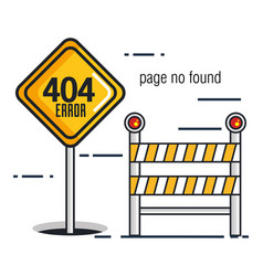 404 connection error icons vector