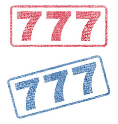 777 textile stamps vector
