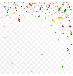 abstract confetti party background vector image