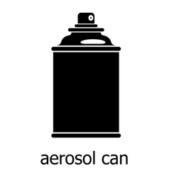 aerosol can icon simple black style vector image