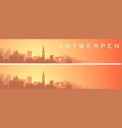 Antwerp beautiful skyline scenery banner vector