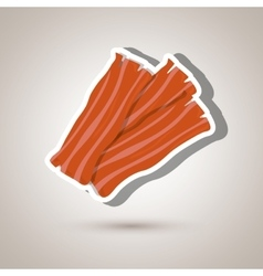 Bacon isolated design vector