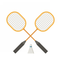 Badminton rackets and volant vector