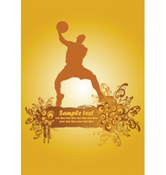 basketball poster2 vector image