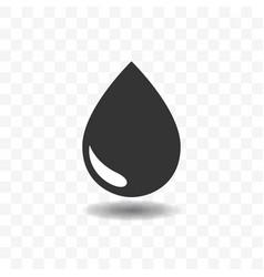 black drop or rain icon design concept vector image
