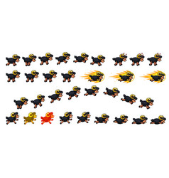 black sheep game sprites vector image