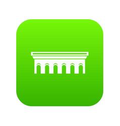 Bridge icon digital green vector