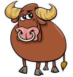Bull farm animal comic character cartoon vector