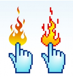 burning cursor vector image
