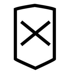 Business error shop shield icon vector