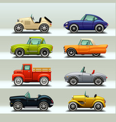 Car icon set-8 vector