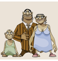 Cartoon family scary goblins vector