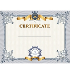 Certificate or coupon template vector image