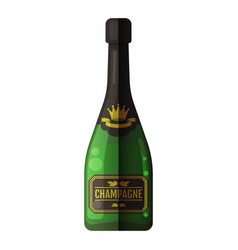 champagne bottle icon cheers holiday toast vector image