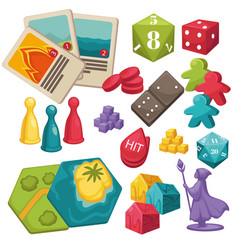 Children games and interactive toys set vector
