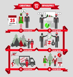 christmas and business infographic vector image