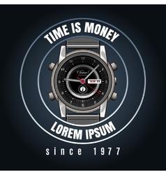 Classic wrist watches shop emblem vector