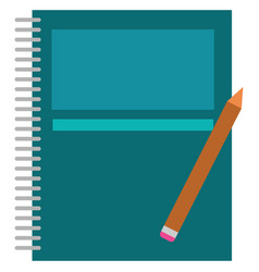 clipart a wire-bound spring blue notebook and vector image