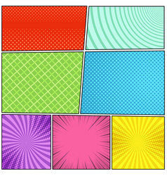 Comic book pages composition vector