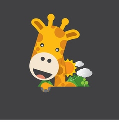 Cute Smiling Giraffe vector