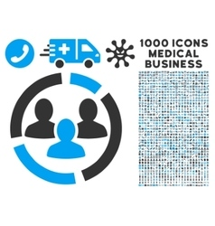 Demography Diagram Icon with 1000 Medical Business vector