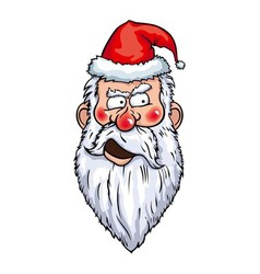 Distrustful Santa Head vector