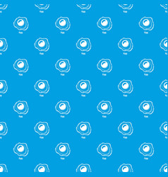 Egg pattern seamless blue vector