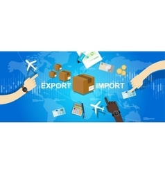 Export import global trade world map market vector