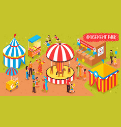 family entertainment park background vector image