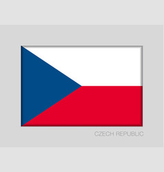 Flag of czech republic national ensign aspect vector