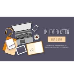 Flat design baners for online education vector image