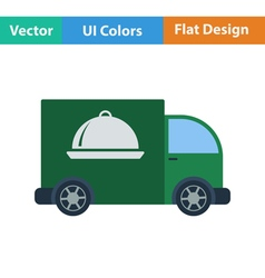 Flat design icon of Delivering car vector