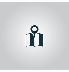Flat location icon vector image