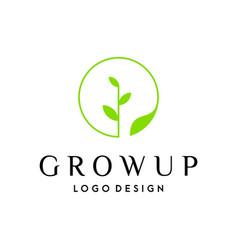 Grow up logo vector