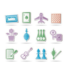 hobby and holiday objects vector image