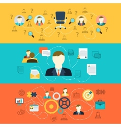 Human resources banners vector