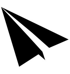Isolated origami airplane vector