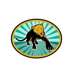 Lion or cougar crawling towards you vector
