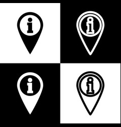 map pointer with information sign black vector image