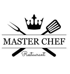 master chef emblem vector image
