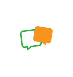 message chat icon logo vector image