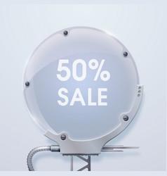 Modern round billboard sale poster vector