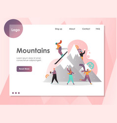 mountains website landing page design vector image