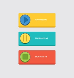 Music play buttons vector