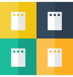Note paper icon set vector image