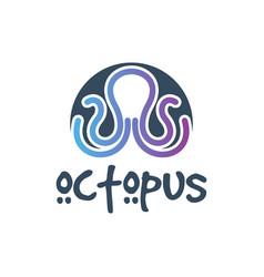 octopus sea animal logo vector image