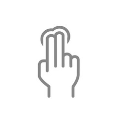 One click with two fingers line icon multi touch vector