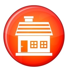 One-storey house icon flat style vector