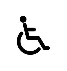 Patient wheelchair icon vector
