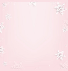 pink background with snowflake vector image